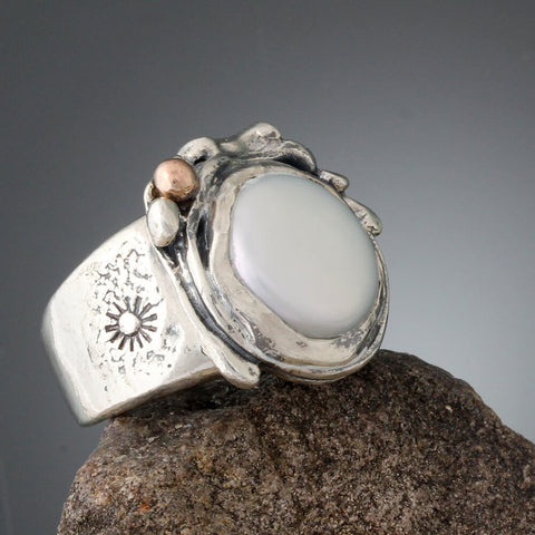 Sherry Tinsman Full Moon Freshwater Pearl Ring Side View
