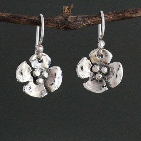 Sherry Tinsman Small Dogwood Flower Earrings