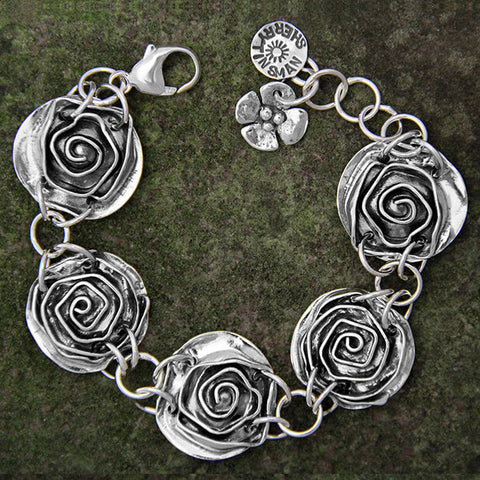 Sherry Tinsman Five Rose Bracelet