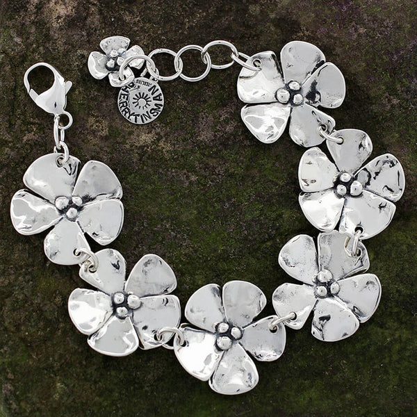Sherry Tinsman Large Dogwood Flowers Bracelet