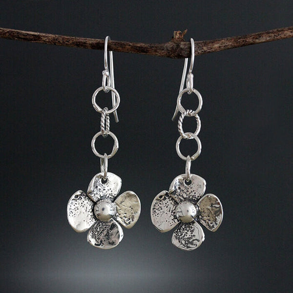 Sherry Tinsman Link Reversible Flower Earrings