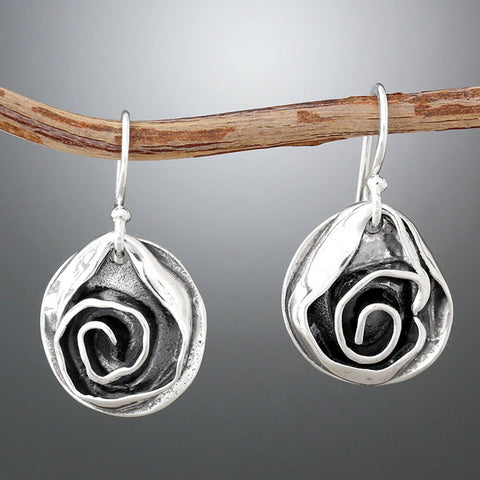 Sherry Tinsman Medium Rose Earrings