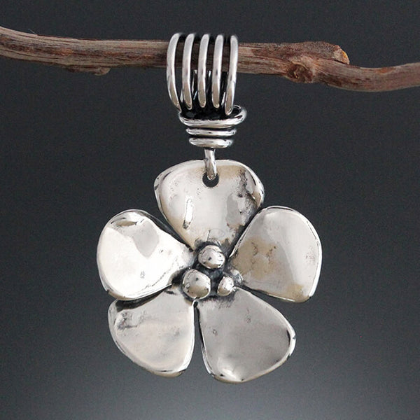 Sherry Tinsman Five Petal Flower Pendant