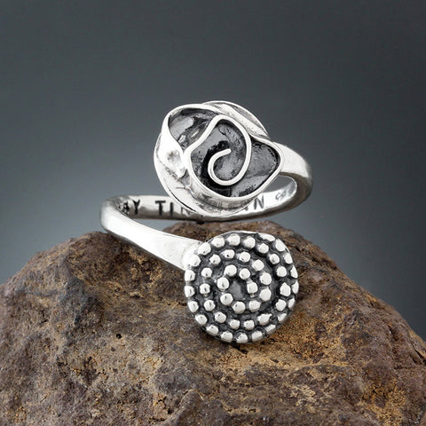 Sherry Tinsman Rose Beaded spiral Ring