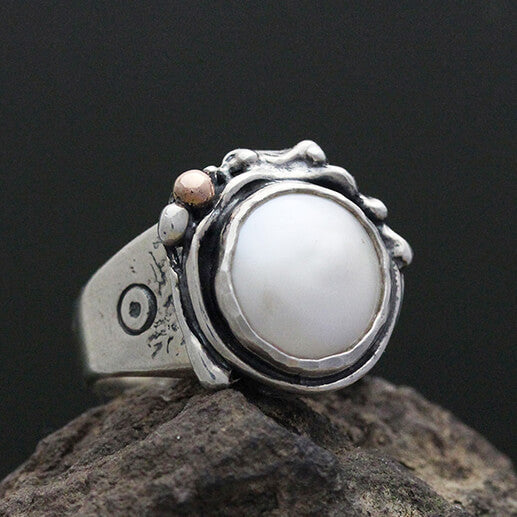Sherry Tinsman Full Moon Freshwater Pearl Ring