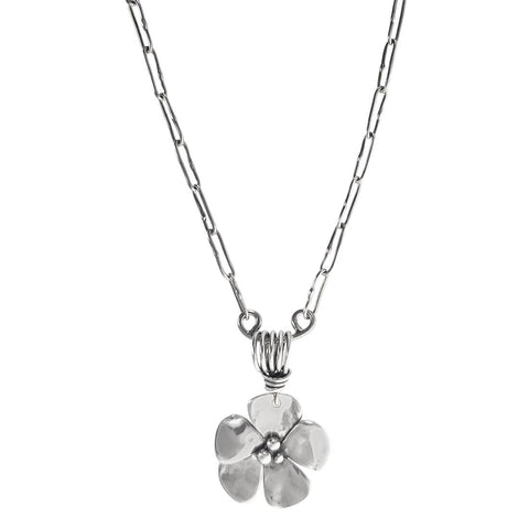 Sherry Tinsman Single Dogwood Pendant Necklace