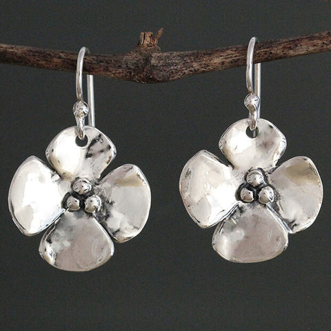 Sherry Tinsman Dogwood Flower Earrings