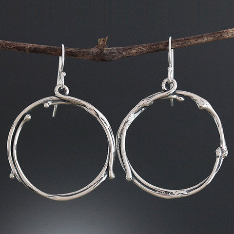 Sherry Tinsman Twig Hoop Earrings