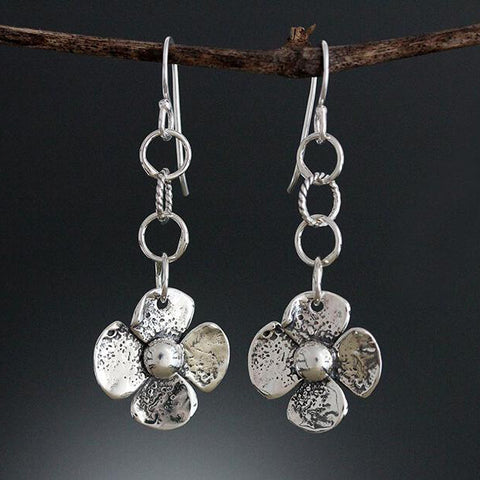 Sherry Tinsman Two Sided Flower Earrings Front Side