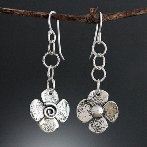 Sherry Tinsman Two Sided Flower Earrings
