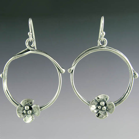 Sherry Tinsman Hoop Flower Earrings