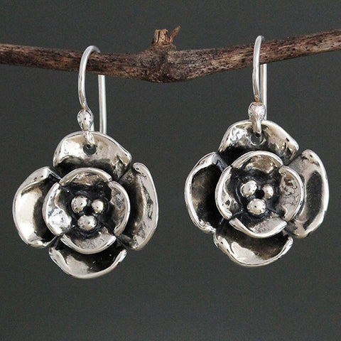 Sherry Tinsman Small Double Dogwood Earrings