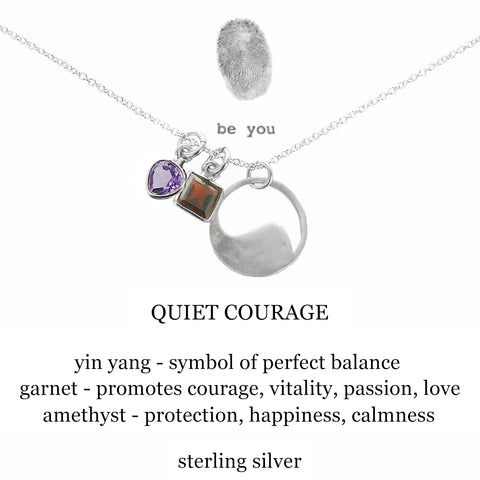 b.u. Quiet Courage Necklace