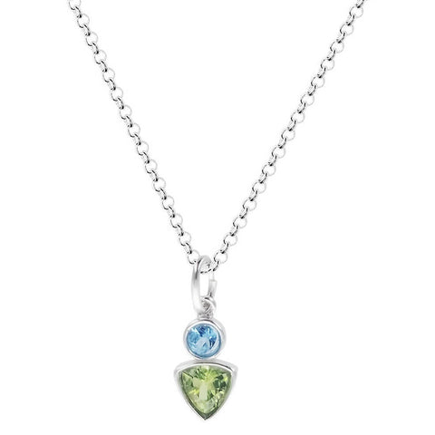 Sierra Sonoma Blue Topaz Peridot Necklace