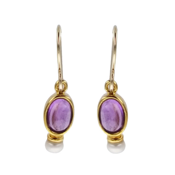 Sierra Sonoma Gold Amethyst Pearl Earrings