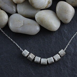 Zina Kao Contemporary Silver Mini Cubes Necklace