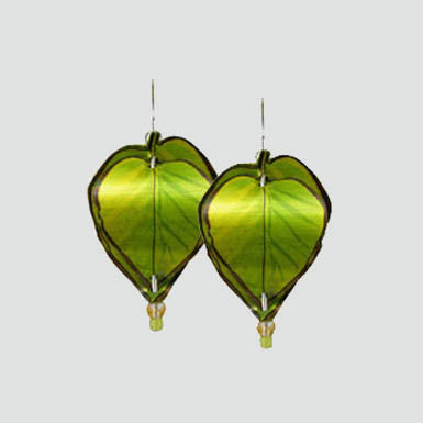 Singerman & Post Green Leaf Earrings