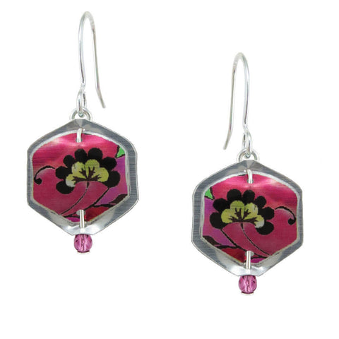 Singerman & Post Mini Pink Blossom Earrings