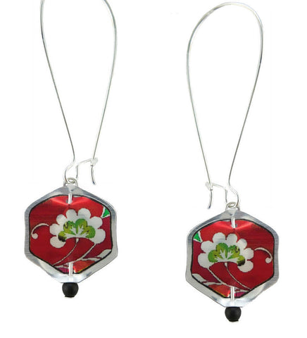 Singerman & Post Mini Red Floral Earrings