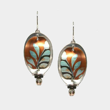 Singerman & Post Turquoise Leaves Earrings
