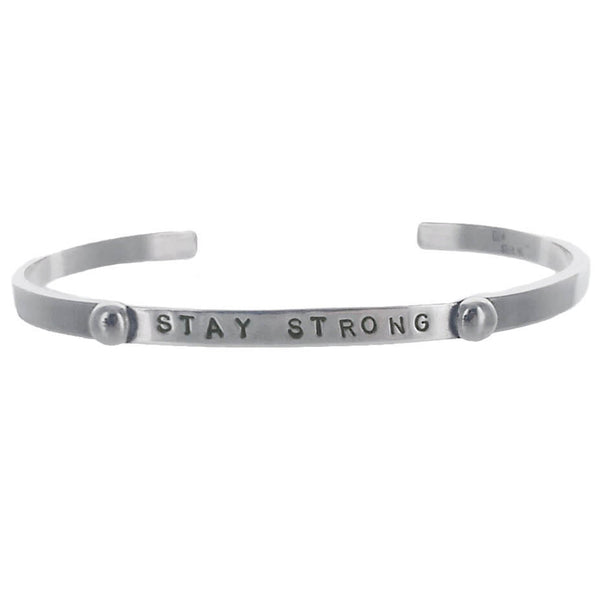 Stay Strong Sterling Silver Cuff