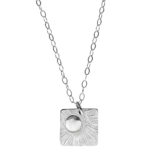 Stuart Peterman Silver Sunshine Necklace
