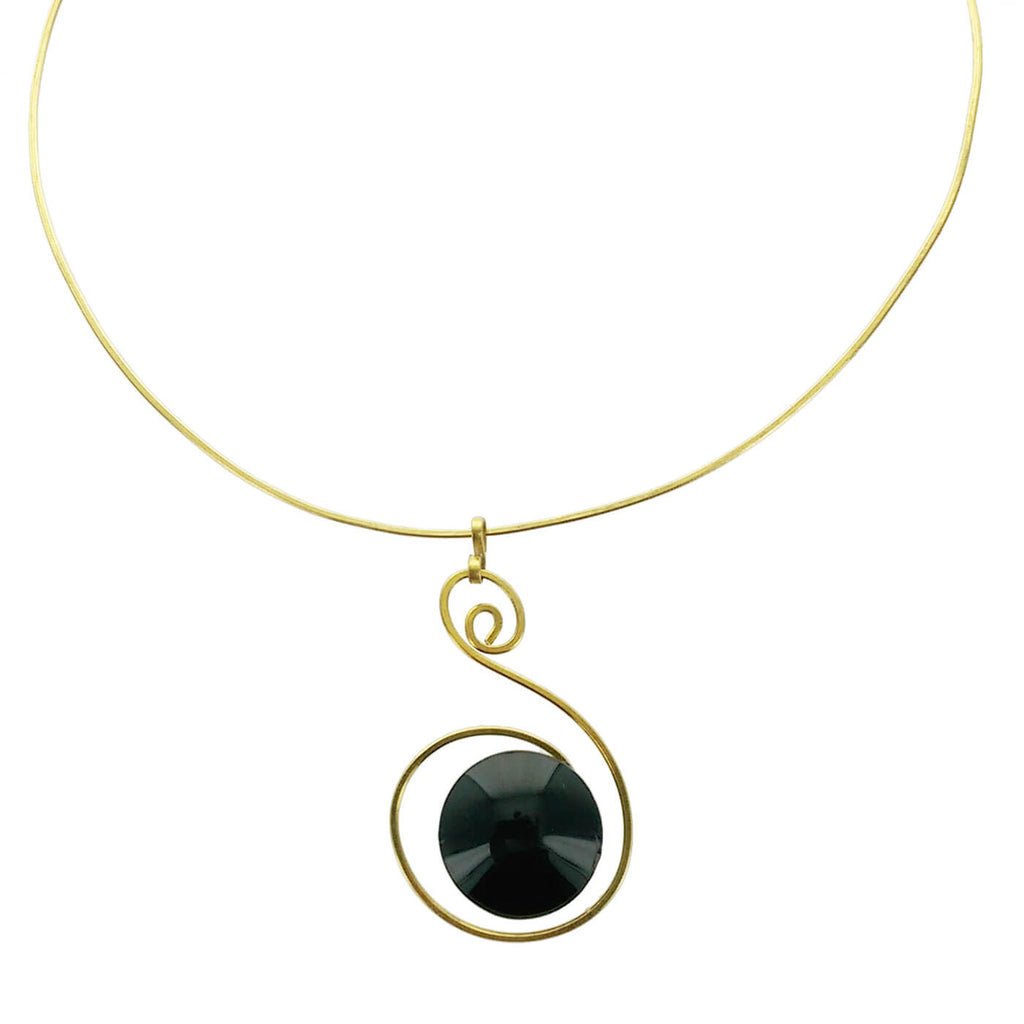 Thr barcelona single stone spiral pendant necklace sheva jewelry aloadofball Images