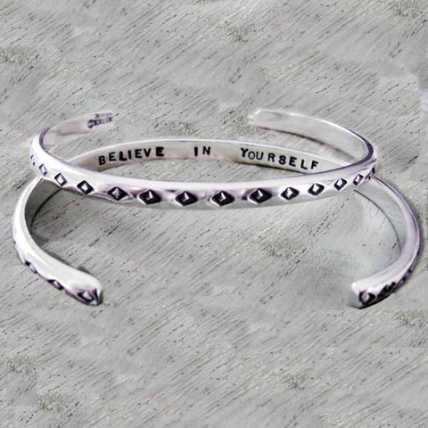 Believe In Yourself Inspirational Cuff Bracelet