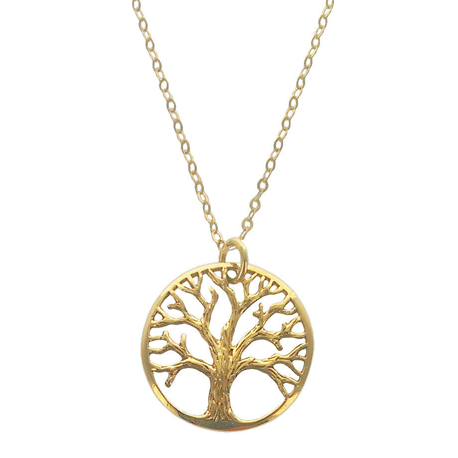 Tree Of Life Necklace Sterling Silver Gold Filled Sheva Jewelry