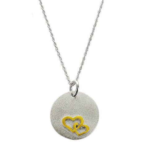Two Hearts Love Necklace