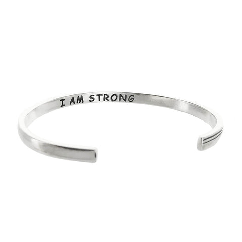 Warrior I Am Strong Bracelet Inscription View