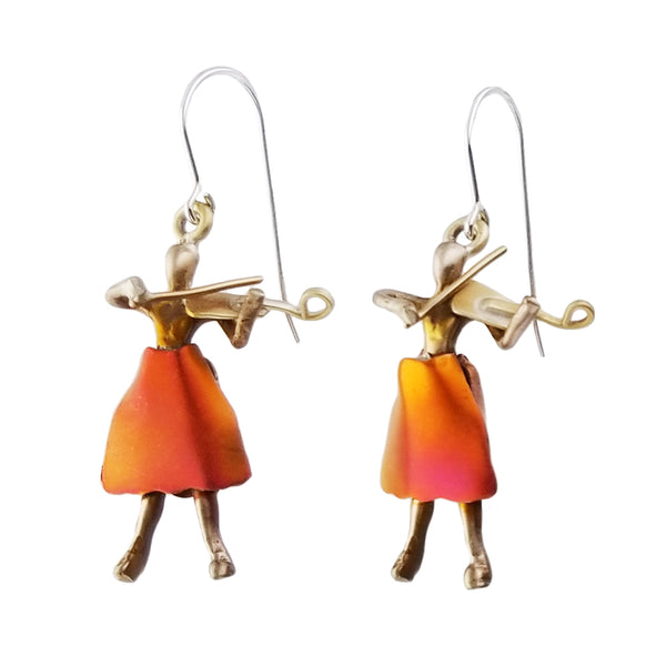 Whitney Designs Violinist Earrings
