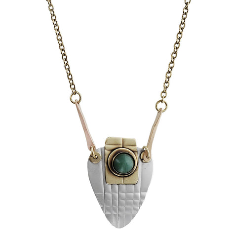 Whitney Green Aventurine Lattice Necklace