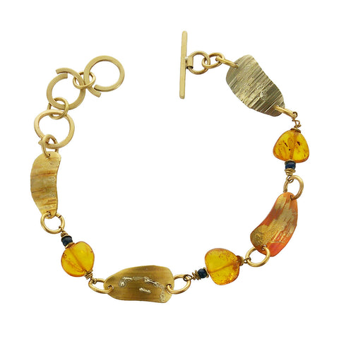 Whitney Moon And Amber Artisan Link Bracelet