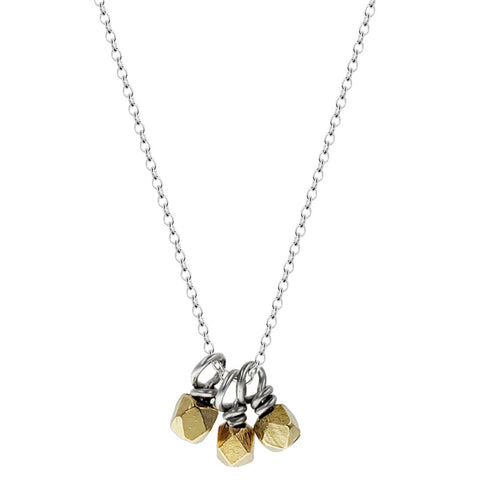 Zina Kao Minimalist Gold Bead Cluster Necklace