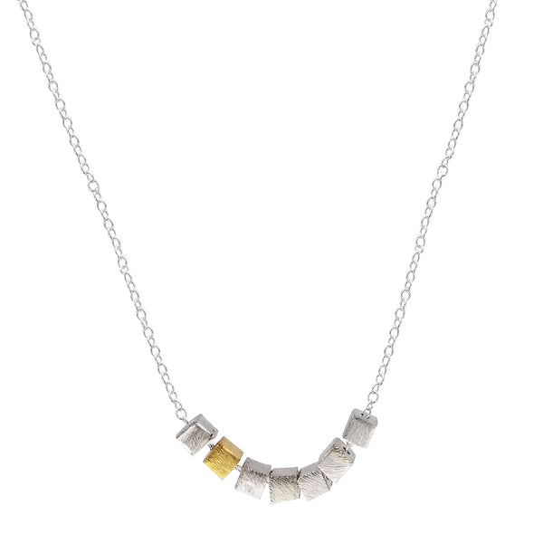 Zina Kao Contemporary Mini Cubes Necklace