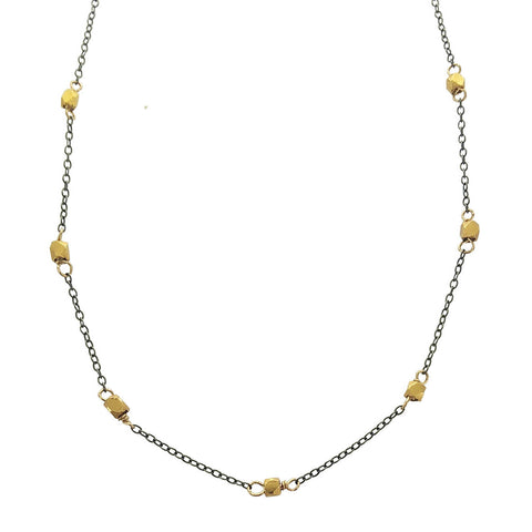 Zina Kao Petite Gold Nugget Necklace