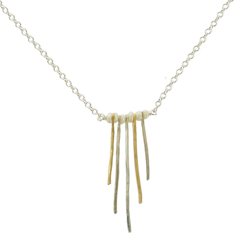Zina Kao Organic Tendrils Pearl Necklace