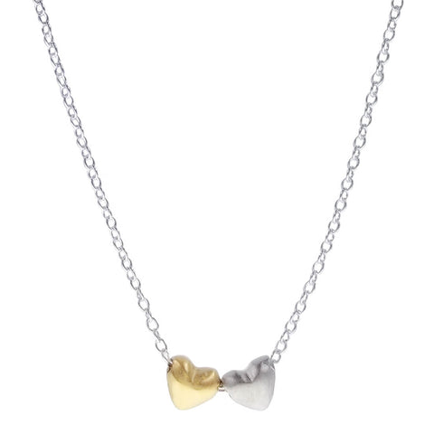 Zina Kao Petite Two Heart Necklace