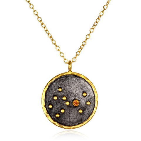 Satya Zodiac Scorpio Citrine Necklace