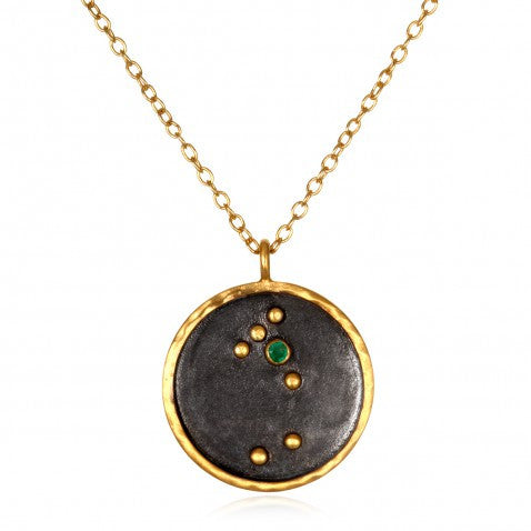 Satya Zodiac Tauras Emerald Necklace