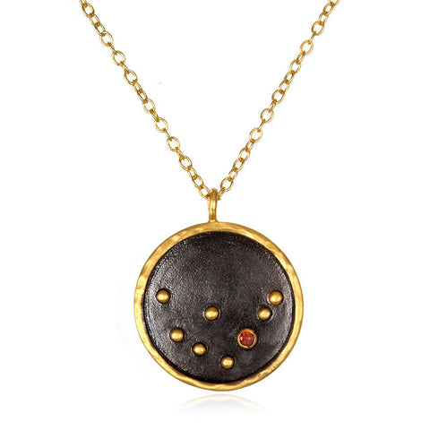 Satya-Zodiac Capricorn Garnet Necklace