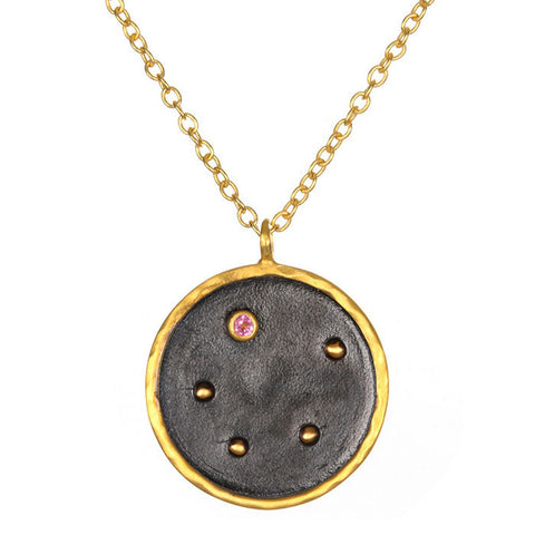 Satya-Zodiac Libra Pink Tourmaline Necklace