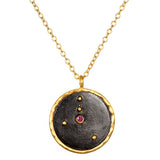 Satya Zodiac Cancer Ruby Necklace