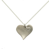 b.u. Two Heart Sterling Silver Necklace