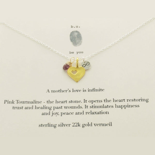 b.u. A Mothers Love Is Infinite Charm Necklace on Gift Card