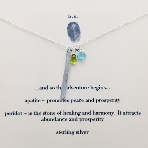 b.u. The Adventure Begins Necklace On Quote Card