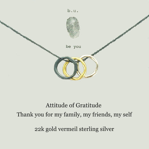 b.u. Attitude Of Gratitude Necklace
