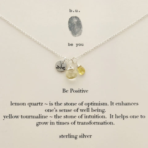 b.u. Be Positive Necklace