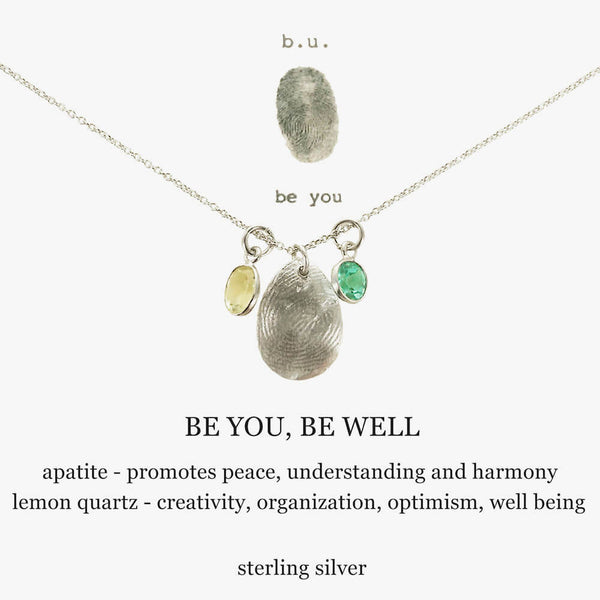b.u. Be You Be Well Necklace
